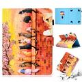 Universal 7.5-8.5 inch Tablet Case, Allytech Slim Folio Stand Cover for iPad mini 1 2 3 4,Galaxy Tab A 8.0 T380 T387/ Tab E 8.0 T377,Fire HD 8, Nextbook,RCA,iView,Dragon Touch,NeuTab,Cute Cats