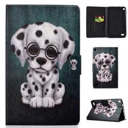 Kindle Fire 7-inch 2015/2017 Wallet Case, Allytech PU Leather Folio Multi Angles Stand Smart Cover for Amazon Kindle Fire 7-inch 7th 5th Generation Tablet, Spotted dog