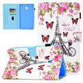 Galaxy Tab A 8.0 Case 2018 Released SM-T380/T385 (Not for T350/387), Allytech Slim Corner Protective Smart Cover with Auto Sleep Wake Kickstand Case for Samsung Galaxy Tab A 8.0 Inch, Butterfly Tower