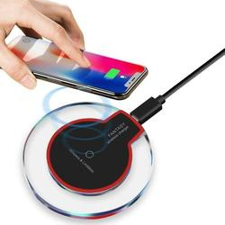Wireless Charger Ultra Thin Fast Charging Pad,5W Fast Wireless Charging Stand, Qi-Certified, Compatible Phone XR/Xs Max/XS/X/8/8 Plus, Fast-Charging Galaxy S10/S9/S9+/S8/S8 Wireless Charging