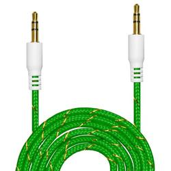 AUX Cable [ 4-Pack, 3ft - Nylon Tangle-Free , Hi-Fi Sound Quality] - 3.5mm Audio Cable Male to Male / Auxiliary Cable / Aux Cord for Car Stereos, iPod, iPhone, Beats, SkullCandy and More-Green