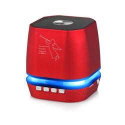 Lighting Wireless Speaker w/ FM Radio Compatible with Apple iPhone 11 Pro Max, iPhone 11 Pro, iPhone 11, iPhone Xs Max, Xs, Xs Plus, XR, X, 8, 8 Plus (Red)