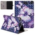 """iPad Pro 9.7"""" Case,Allytech Ultra Slim 3D Pattern PU Leather Folio Kickstand Smart Case with Auto Sleep Wake Function Full Protective Cards Holder Wallet Case for Apple iPad Pro 9.7"""",Purple Butterfly"""