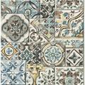 Brewster Marrakesh Blue Global Tiles Wallpaper