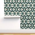 Peel-and-Stick Removable Wallpaper Vintage Square Tile Retro Geometric Gold Geo