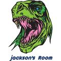Personalized Name Vinyl Decal Sticker Custom Initial Wall Art Personalization Decor Boy Bedroom Green Dino Dinosaur 18 Inches X 22 Inches