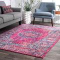 nuLOOM Arla Persian Vintage Area Rug, 8' x 10', Fuchsia