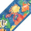 Blue Mountain Wallcoverings 12440672 Tropical Fish Prepasted Wall Border Roll