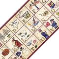 Blue Mountain Wallcoverings 12440631 Country Alphabet Prepasted Wallpaper Border Accent Roll