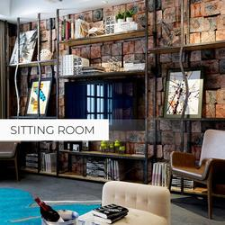 Wallpaper Waterproof Background Removable Mural Living 31ft Wall Sticker Brown Wood Grain Retro 3D Restaurant Brick Bedroom Effect Wallpaper Roll Room Texture - 21 x 374 Inches