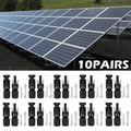 10 Pairs MC4 Connectors 30A for PV Solar Panel Male & Female Cable Waterproof