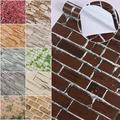 Realistic 3D Wallpaper Rustic Vintage Brick Effect Stone Textured Vinyl Sticker