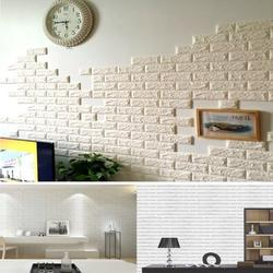"""FOCUSSEXY Wallpaper 11.8""""x 23.6"""" 3D Self-Adhesive Wallpaper Faux Foam Real Bricks Effect Wall Panels for TV Walls Sofa Background Bedroom Kitchen Living Room Home Wall Decor"""