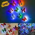 12pcs LED 3D Butterfly Wall Stickers, EEEkit LED Night Light Removable Wall Stickers, Colorful Butterfly Wall Decals Art for House Decoration