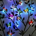 EEEkit 12pcs LED Butterfly Wall Stickers Luminous Night Lights, Removable Mural Crafts Art Design Decal Wall Colorful Light 3D Simulation Butterfly Wall Stickers House Kid Bedroom Decoration