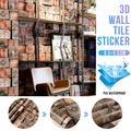 HALLOLURE 20.8''x 374'' 3D Effect Wallpaper Wall Decal Wallpaper Roll Brick Wallpaper Film PVC Mural Bedroom Living Room Home Decoration