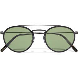 Ellice Round-frame Titanium Sunglasses - Black - Oliver Peoples Sunglasses