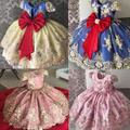 Robe d'anniversaire et de mariage en dentelle pour filles, robe de bal élégante pour enfants, robe
