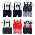 Vêtements d'été pour nouveau-né, de 0-12 mois, combinaison en coton pour bébé garçon, barboteuse,