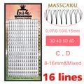 Masscaku — Faux-cils au volume russe, préfabriqués, extensions en vison synthétique, produit de