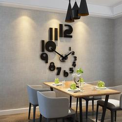 Vente d'horloges murales et montres européennes, autocollants 3D DIY salon à quartz, livraison