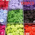 100 pièces/ensemble 2 Trous Forme Ronde Enfants Boutons de Couture En Plastique Vêtements Outils
