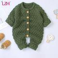 LZH – barboteuse en tricot pour bébés garçons et filles, combinaison chaude d'automne et d'hiver