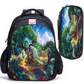LILI0085 Snow White and The Seven Dwarfs Multi Scene Mini Backpack Anime CartoonBoys/Girls Outdoor Sports Bags (Color : 4, Size : 2pcs42x35x17cm)