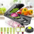 Vegetable Chopper Multi-Function Grating Drain Basket Small Tool Kitchen Accessories Slicer Cutter for Veggie Fruit Salad Onion Potato