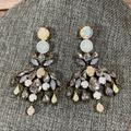 J. Crew Jewelry | J. Crew Druzy Brulee Chandelier Crackle Earrings | Color: Gold/Silver | Size: Os