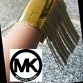 Michael Kors Jewelry   Michael Kors Goldtone Wide Cuff  Fringe   Bracelet   Color: Gold   Size: 2.5 X 2.5