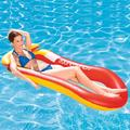 """Inflatable Lounge with Headrest, Swimming Pool Float Raft for Adults, Inflatable Rafts Swimming Pool Air Lightweight Floating Chair Compact Floating Devices, 63"""" X 33.5"""""""