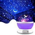 TINGOR Kids Night Light Star Projector for Bedroom, 360 Rotating Lighting Unique Lamp Decorations with 4 LED Bulbs 8 Colors Changing Gifts for Baby, Purple