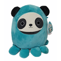 """Squishmallows Official Kellytoy Plush Toy 8"""" Stanley the Octopus Panda"""