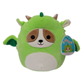 "Squishmallows Official Kellytoy Plush Toy 8"" Reginald the Dog Dragon"