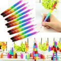 Buytra Building Block Pencils Colorful Creative Kids Stacker Swap Children Gift 4 Pcs