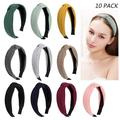 Jaciya 10 Pieces Knotted Headbands for Women Turban Headbands for Women Wide Headbands for Women Knot Headband 10 Colors 10 Pack Knotted Headband
