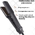 Kemei KM-329 Ceramic Tourmaline Ionic Flat Iron Hair Straightener Flat Iron for Hair Professional Glider Hair Straightener Ceramic Flat Iron for All Hair Types, Wet & Dry Using