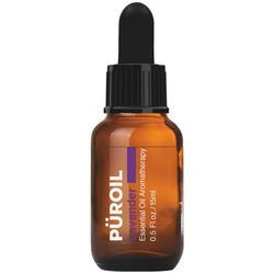 Puroil Lavender Essential Oil Aromatherapy, Dropper Bottle, 0.5 Fluid Ounces (15 Millilitres)
