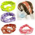 Besufy 2Pcs Sunflower Print Headband Buttons Elastic Running Hairband Headwear,Purple