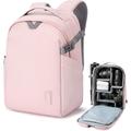 BAGSMART Camera Backpack, DSLR SLR Canvas Camera Bag Fits 13.3 Inch Laptop Water Resistant with Rain Cover Tripod Holder,for Men Women,Canvas Black