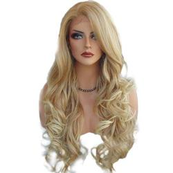 Hapeisy 70cm Long Front Lace Wig Heat Resistant Curly Hair Cosplay Wigs for Woman;70cm Long Front Lace Wig Heat Resistant Curly Hair Cosplay Wigs for Woman