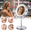 ZTOO Magnifying Mirror 10x, Illuminated Makeup Mirror With Lights, Double Side, 360°Rotation, LED Mirror for Table Magnifying Mirror, Tabletop Mirror