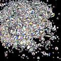 Nail Rhinestones 1848pcs, YGDZ AB Crystal Nail Gems 1728 Round & 120 Mixed Flatback Glass Nail Stones Beads for Nail Art Crafts DIY Jewelry, 288pcs Each (SS4 5 6 8 10 12)10pcs Each Mul
