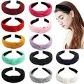 Ondder 12 Pack Knotted Headbands for Women Turban Headbands Knot Headband Headwear Cute Headbands Hair Accessories for Women Ladies Girls