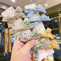 CUTELOVE Girls And Girls Cute Candy-colored Bow Hairpin BB Clip Hairpin Princess Bow Hairpin 4-piece Set