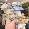 ZDMATHE Girls And Girls Cute Candy-colored Bow Hairpin BB Clip Hairpin Princess Bow Hairpin 4-piece Set