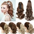 """Benehair Clip In Ponytail Hair Extensions Fashion Claw on Long Cute Wavy Hair Piece 12"""" Claw Curly Sandy Blonde & Bleach Blonde"""