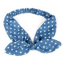 Cowboy Knot Headband Turban Elastic Hairband Head Wrap Hair Accessories Bow Striped Headwear Accessories;Cowboy Knot Headband Turban Elastic Hairband Bow Striped Headwear