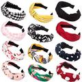 Ondder 12 Pack Knotted Headbands For Women, Turban Headbands For Women Hard Headband Headwear Cute Floral Headbands Hair Accessories For Women Ladies